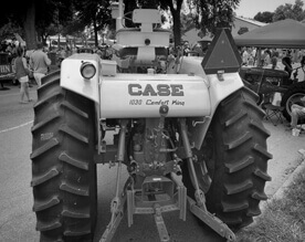 Lee Sacket Tractor Black and White