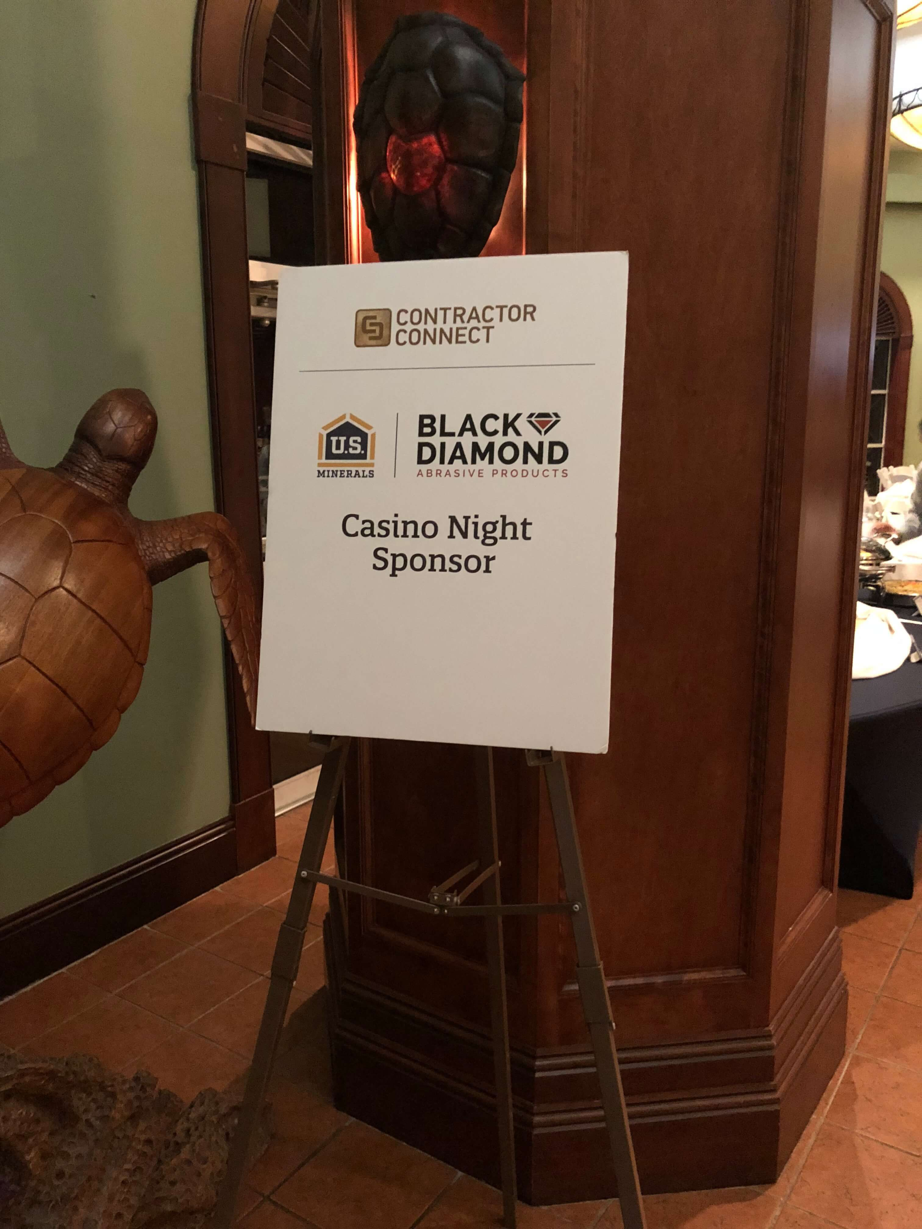 Black Diamond Sponsors Casino Night at Contractor Connect